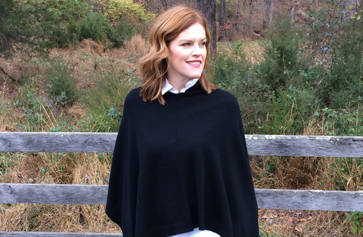French Chic Winter Essential: The Cashmere Poncho