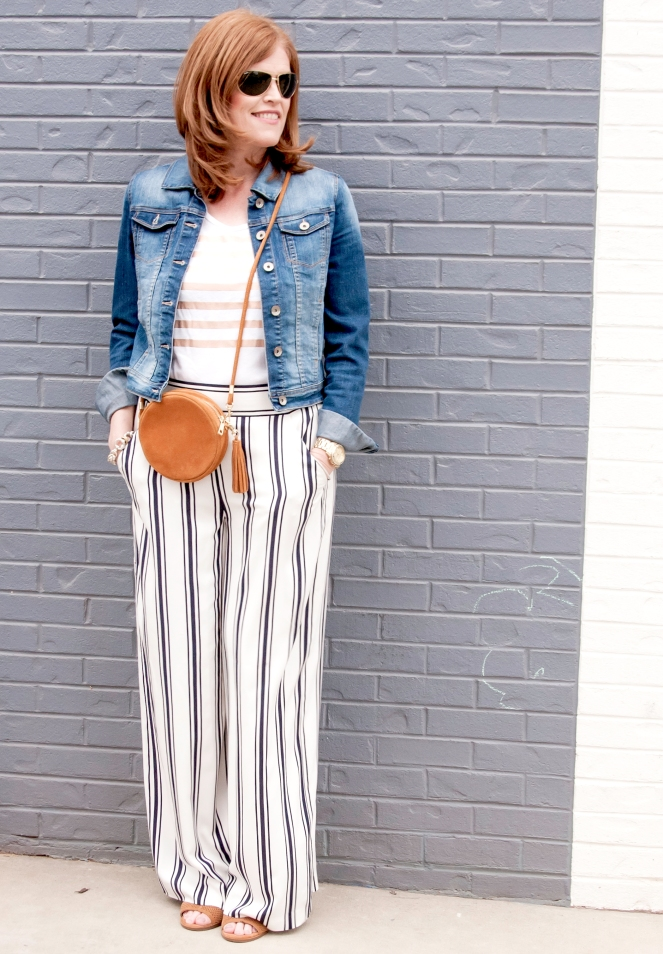 Spring Striped Chic Outfit