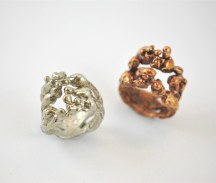 Eleonora Ghilardi Bronze and Silver Rings