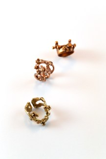 Eleonora Ghilardi Red and Gold Adjustable Nail Rings
