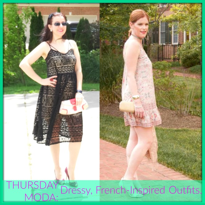 Ada & Christine, Dressy French-Inspired Outfits Collage for Thursday Moda