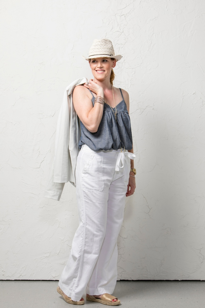French Chic: White Linen Pants