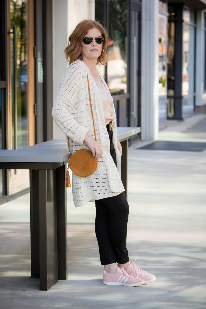 French Chic Cardigan & Camisole For Fall