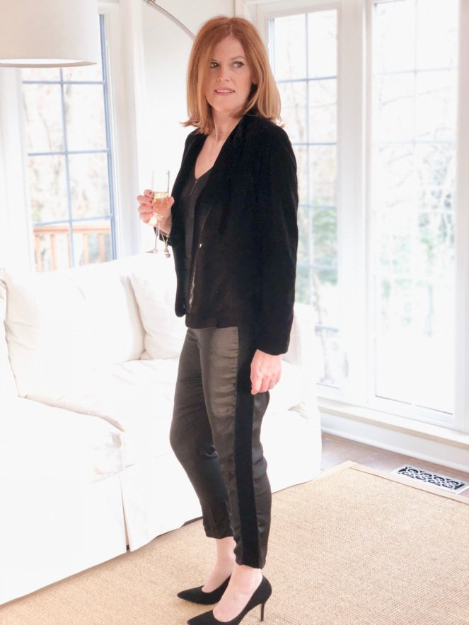 All Black French Chic Party Night Outfit