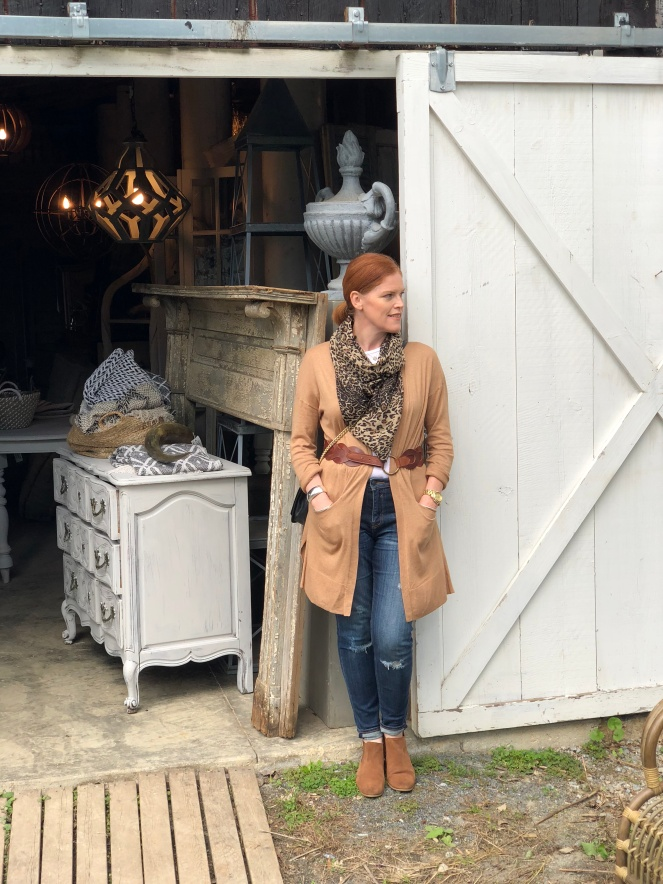 French Country Chic Outfit & Antique Shopping in Virginia