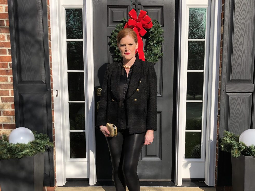 How to Style Chic all-black outfit
